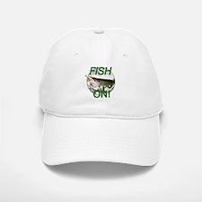 Musky fish on Baseball Baseball Cap