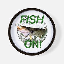 Musky fish on Wall Clock