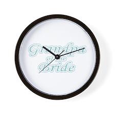 Grandpa of the Bride Wall Clock