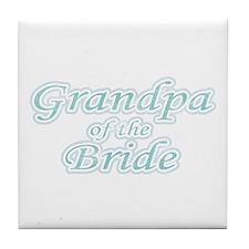 Grandpa of the Bride Tile Coaster