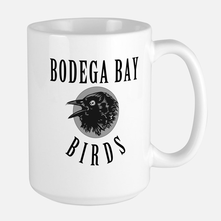 Bodega Bay Birds Large Mug