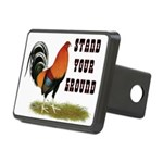Stand Your Ground Rooster Rectangular Hitch Cover