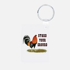 Stand Your Ground Rooster Keychains