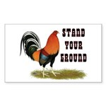 Stand Your Ground Rooster Sticker (Rectangle 50 pk