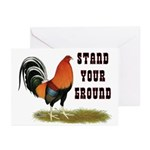 Stand Your Ground Rooster Greeting Cards (Pk of 20