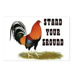 Stand Your Ground Rooster Postcards (Package of 8)