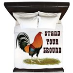 Stand Your Ground Rooster King Duvet