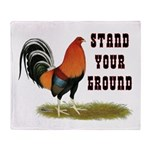 Stand Your Ground Rooster Throw Blanket