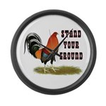 Stand Your Ground Rooster Large Wall Clock
