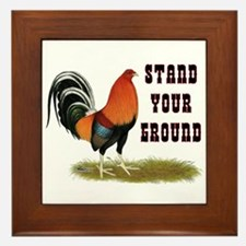 Stand Your Ground Rooster Framed Tile