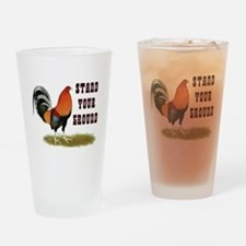Stand Your Ground Rooster Drinking Glass