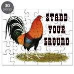 Stand Your Ground Rooster Puzzle