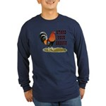 Stand Your Ground Rooster Long Sleeve Dark T-Shirt