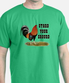 Stand Your Ground Rooster T-Shirt