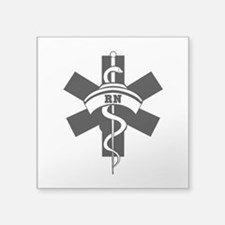 "RN Nurses Medical Square Sticker 3"" x 3"""