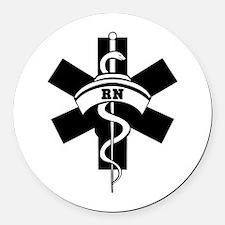 RN Nurses Medical Round Car Magnet