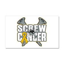 Screw Appendix Cancer Car Magnet 20 x 12