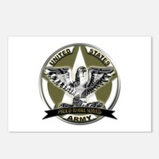 US Army Eagle Proud to Have Served Postcards (Pack
