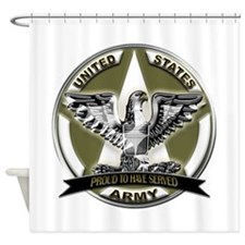 US Army Eagle Proud to Have Served Shower Curtain