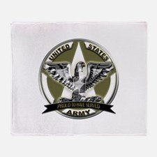 US Army Eagle Proud to Have Served Throw Blanket