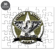 US Army Eagle Proud to Have Served Puzzle