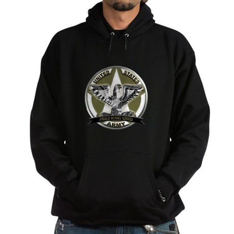US Army Eagle Proud to Have Served Hoodie (dark)