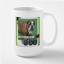 English bulldog and dad Large Mug