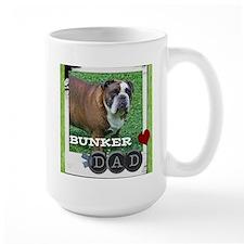 English bulldog and dad Mug