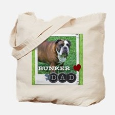 English bulldog and dad Tote Bag