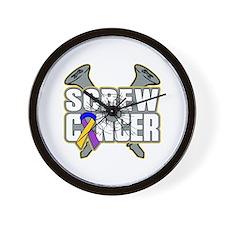 Screw Bladder Cancer Wall Clock