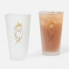 Unicorn-print Drinking Glass