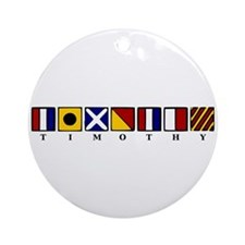 Nautical Timothy Ornament (Round)