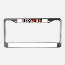 Nautical Timothy License Plate Frame