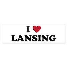 I Love Lansing Michigan Bumper Sticker