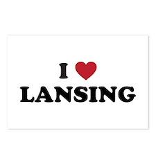 I Love Lansing Michigan Postcards (Package of 8)