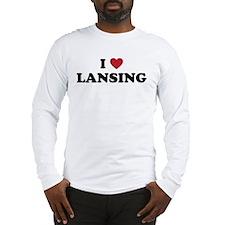 I Love Lansing Michigan Long Sleeve T-Shirt