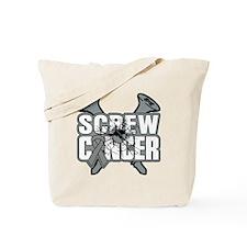 Screw Brain Cancer Tote Bag