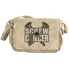 Screw Brain Cancer Messenger Bag