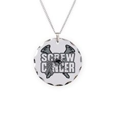 Screw Brain Cancer Necklace Circle Charm