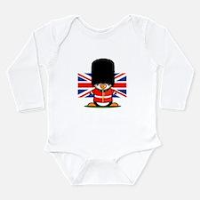 British Soldier Pengui Long Sleeve Infant Bodysuit