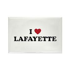 I Love Lafayette Louisiana Rectangle Magnet