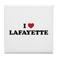 I Love Lafayette Louisiana Tile Coaster