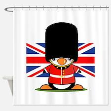 British Soldier Penguin Shower Curtain