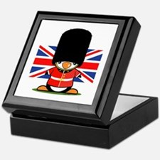British Soldier Penguin Keepsake Box