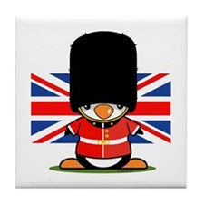 British Soldier Penguin Tile Coaster