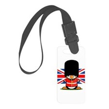 British Soldier Penguin Luggage Tag