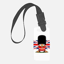 British Soldier Penguin Luggage Tag