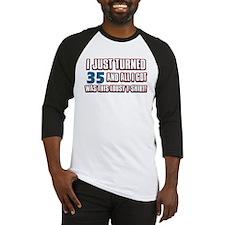 35 birthday designs Baseball Jersey