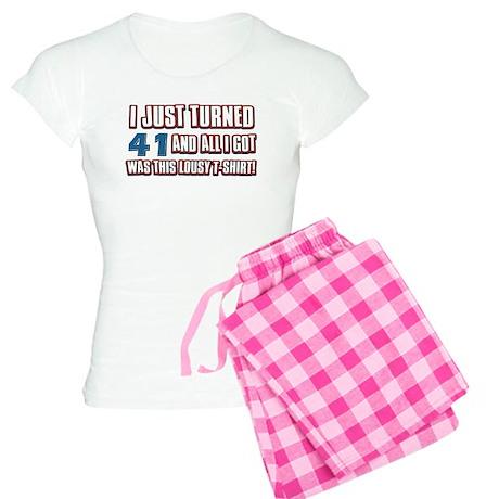 41 birthday designs Women's Light Pajamas