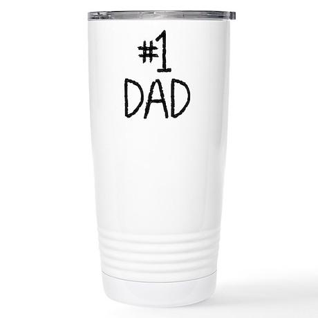 Number 1 dad Stainless Steel Travel Mug